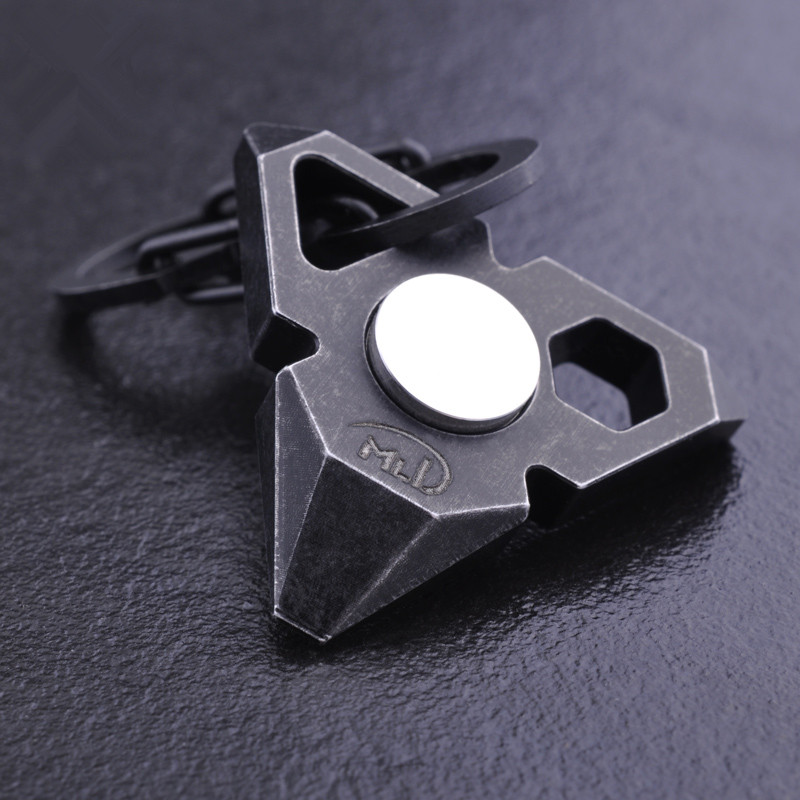 Fidget Dito Spinner messa a fuoco a mano in acciaio SPIN EDC CUSCINETTO Ahad giocattolo di stress sollievo