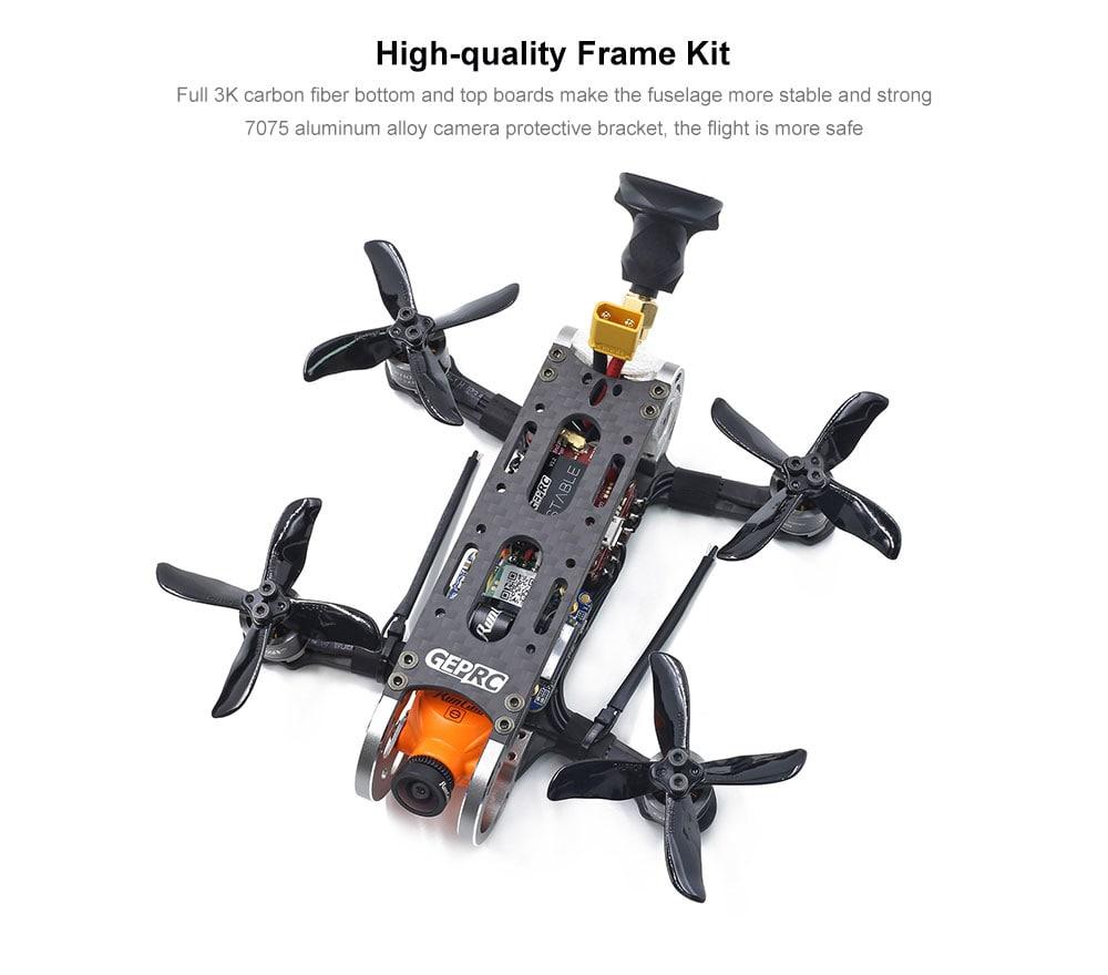GEPRC GEP - CX2 Cygnet 2 2 inch Mini 1080P Aerial FPV RC Drone F4 FC 20A ESC 48CH VTX Quadcopter- Black BNF ( With FRSKY XM+ Receiver )