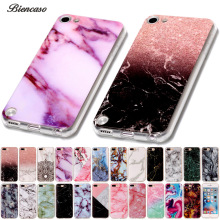 Biencaso Marble Soft TPU Phone Cases For iPhone 8 7 Plus 4 4S 5 5S 5c SE 6 6s iPod touch 5 6 Cover Skin Shell Fundas Coque B02(China)