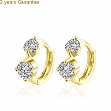 cute berry 2 years guarantee  gold color fashion girl student fruit earrings clip rhinestones zircon  jewelry E130