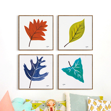 Popigist Nordic Simple Painter Oil Painting Leaves Plant Canvas Art Print Poster Picture Wall Living Room Home Decoration Murals(China)