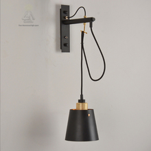 E27 Plated Loft Iron American style bedside antique wall lamp single-head living room lights vintage fashion bar lamps Luminaria(China)