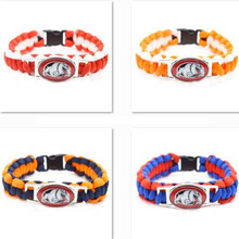 2017 New Fashion NCAA Bracelet Georgia Bulldogs Charm Braided Bracelet Men Women Lover Sport Bracelet Jewelry Gifts
