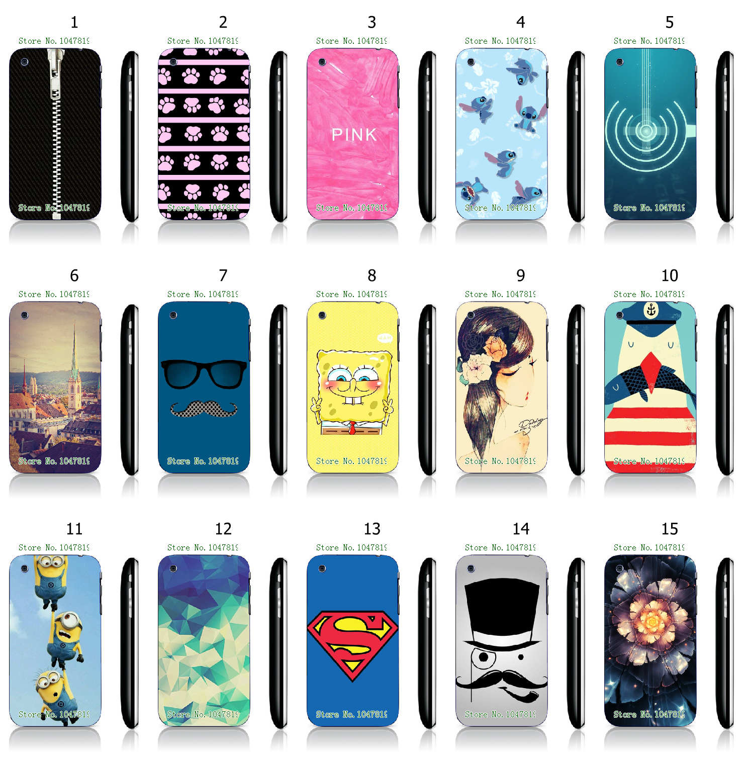 Cool Style The Minions Cartoon Panited White Hard Plastic Case Cover for iPhone 3 3GS(China)