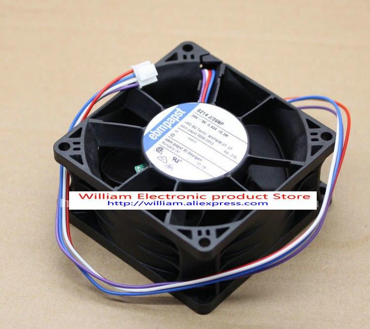 New Original EBM PAPST 8214 J/39NP 24V 0.43A 10.3W 80*80*38MM Inverter cooling fan<br>