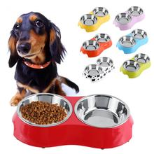 Dog Bowl Cat Stainless Steel Diner Dish Pet Food Water Bowl Pet Dog Feeder Tool