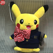 New Pikachu Airline Stewardess Airhostess Cabin Attendant Soft Peluches Doll Fashion Cartoon Toys Kids Baby Girl Christmas Gift(China)