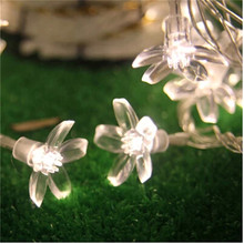 3M 20LED Cherry LED String Lights Battery Wedding Holiday and Parties Decoration Lightings LED Guirlande Lumineuse Flor Cerezo