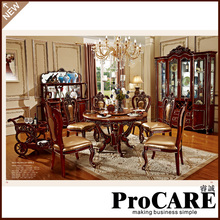 Buy classical dining room furniture wooden carving dinning