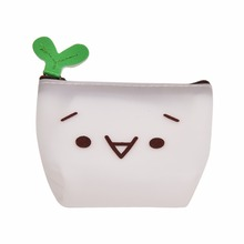 Hot Silicone Emoji Coin Purse  Girls Fashion Design Velishy Mini Wallet Bag Small Fresh Change Pouch Key Holder