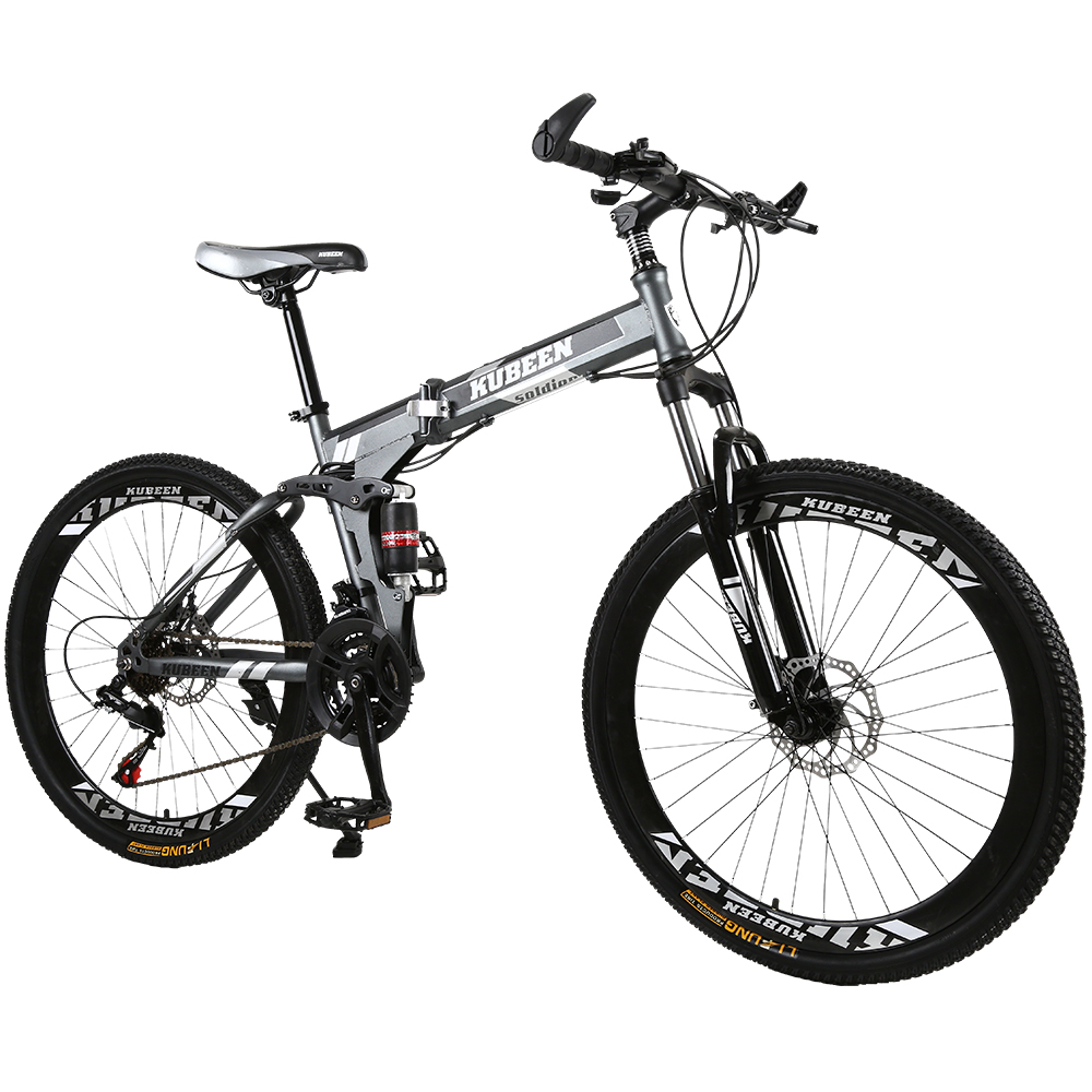 KUBEEN BMX Bike Bicycles Mountain-Bike Speed-Road Steel Brakes 26-Inch Dual-Disc Variable title=