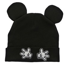Infant Cap for Baby Boys Girls with Mouse Ears and Hands Style Kids Sleeve Hat Newborn Boy Girl Beanie Skullies Spring Autumn