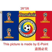 2018 Russia Football World Cup Romania National Team 3ft*5ft (90*150cm) Size Decoration Flag Banner