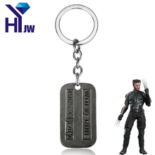 Buy Hot Movie X-Men Superhero Origins Wolverines Dog Tag ID Pendant Key Chain Zinc Alloy Marvel X Men Jame Logan Key Ring Jewelry for $1.30 in AliExpress store