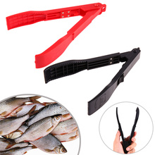 Fishing Gripper with Lock Switch Fish Grip Clamp Body Holder Controller Grip Gripper Grabber Spring Lanyard BBQ Tools Accessory