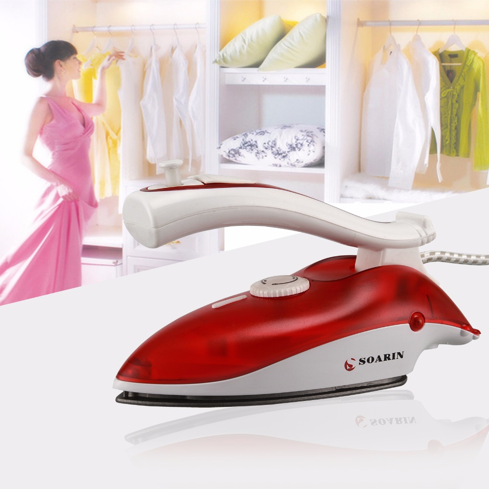 220V Portable Mini Steam Iron 800W 3 Shifts Non-Stick Foldable For Travel And Household Clothes Electric Iron<br>