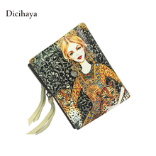 DICIHAYA High Quality Animal Print Purse Women Leather Purses Luxury Brand Wallet Double Zipper Wallets Clutch Coin Card Bags