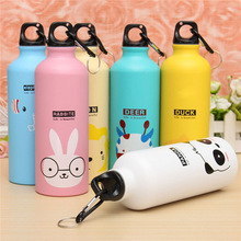 500 ML Bicycle Cute Cartoon Pattern Aluminum Water Bottle Sport kettle gym run water bottle mountaineering bottle field Kitchen