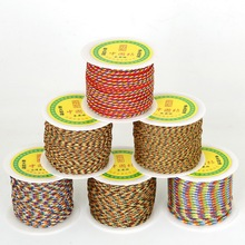 Size 0.4mm-4mm Mixed Color Durable 25-140 Yards/Roll Chinese Knot Thread Cord for DIY Handicraft Tool Hand Stitching Thread
