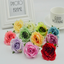 10pcs silk plastic roses for wedding home vase Decoration bridal accessories diy Wreaths Gifts cheap artificial stamen flowers