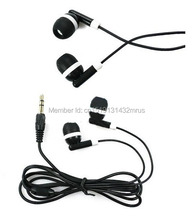 Wholesale 1000pcs/lot disposable earphone Cheapest New In ear earbud for Moible phone 3.5mm  For MP3 Mp4