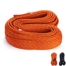 CE Approved, 22-38KN Static Rope Outdoor Rescue Safety Rappelling Rope For Rock Climbing Caving Drifting,10M/pcs(China)