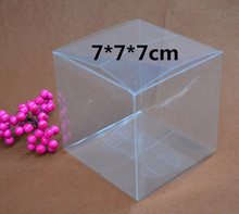 Qi Size:7*7*7cm 10pcs/lot Plastic Jewelry Packaging Clear Box Square Size Display Box Transparent Gift Packing Craft Boxes