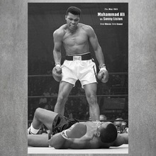 Muhammad Ali KO Vintage Retro Posters and Prints Home Decoration 4 Size Large  Canvas Painting Modern Wall Art Picture