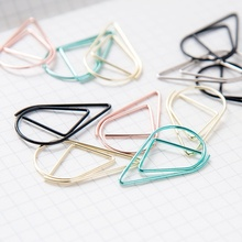 50 Pcs/Lot Bookmarks Memo Bookmark Marking Clips Water Drop Shape Paperclip Bookmarks Arts Crafts Sewing(China)
