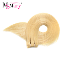 Ms Mary #613 Blonde Straight Weave 1 Bundle Deals Cheap Remy Human Hair Bundles Free Shipping(China)