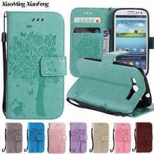 Leather Case For Samsung Galaxy S3 Neo Case Wallet Flip Cover Phone Case Samsung Galaxy S3 Cover Case i9300 i9301 Coque Capas(China)