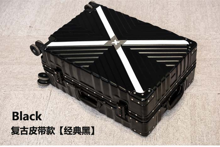 Retro Travel Trolley Luggage With X Belt Aluminum Frame Alloy Business Rolling Luggage Airplane Suitcase Spinner Wheels (11)