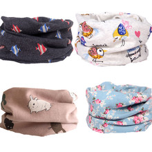 new winter cartoon baby scarf bunny strip berry bear dots kids o ring collars boy's girl's neck wear scarves wraps accessories(China)