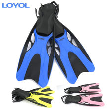 YOBEL Diving Snorkeling long fins fins frog shoes adjustable fin swimming flippers diving supplies /XL (42-47 code L Huang Ying(China)