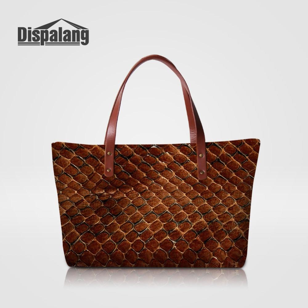 Dispalang Women Handbags Snakeskin Pattern Shoulder Bags Fashion Casual Messenger Bags Large Capacity Lady Top-handle Bag Toes<br>