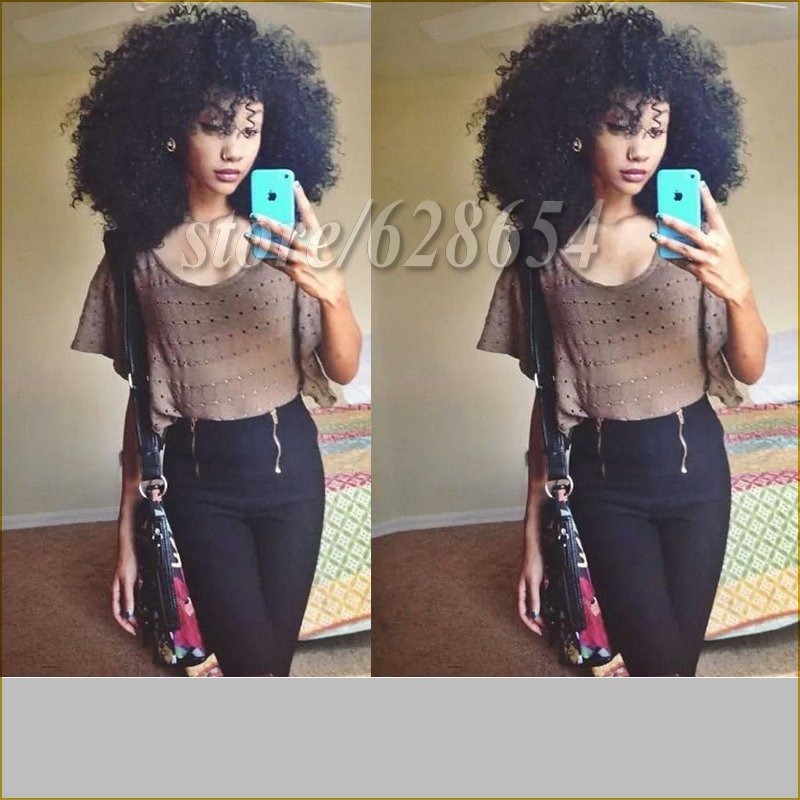 Kinky 16-18 Short Shoulder Length Half Hand-tied Heat Resistant Fiber Afro Kinky Synthetic Hair Lace Front Wig for Black Women<br><br>Aliexpress