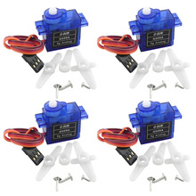 4X Rc Mini Micro sg90 9g Servos for Arduino Board RC 250 450 DIY Smart Vehicle Rc Helicopter Airplane Foamy Plane Robot Car(China)
