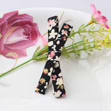 2016 Korean Hairgrips Girl Strip Hairpins Floral Bowkont Hair Accessories For Dress Women Sweet Headband Fabric Hairclips