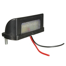 12v-24v LED Number Licence Plate Light Rear Tail Lamp Van For Camper Truck Trailer Lorry White(China)
