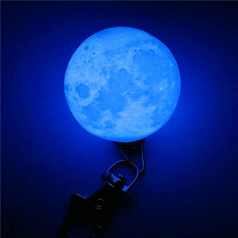 Mini 3D Print Moon Lamp 4cm LED Night Lights Novelty Moon Lamps Keychain Button Battery Powered Key Holder Bag Pendant Baby Gift (9)