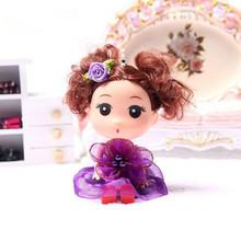 12cm environmental protection gifts for children confused doll mobile phone pendant Pearl Flower Section