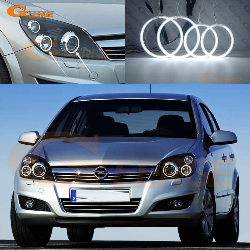 For Opel Astra H 2004-2010 Xenon headlight Excellent Ultra bright illumination CCFL Angel Eyes kit Halo Ring<br>