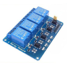 4 Relay Modules Control Panel Electronic Components Integrated Circuits with Optocoupler Indicator Light