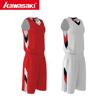 Original Kawasaki Custom Reversible Basketball Set Men Jerseys Training Tracksuit Sports Jersey Basketball Uniform Suit(China)