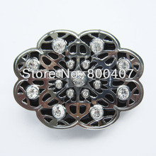 Retail Distribute Western Rhinestones Flower Belt Buckle BUCKLE-T088 Free Shipping