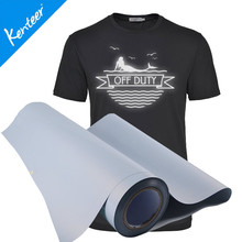 Q8 Kenteer Good Quality Silver Reflective Heat Transfer Vinyl For Clothing 0.5*25m/Roll