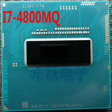 Intel CPU I7 4800MQ 2.7-3.7G / 6M SR15L PGA official version of the notebook CPU supports HM86 / 87 Free shipping(China)