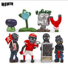 MOWIN 8pcs/lot Super Popular Game Plants Vs Zombies Kids Action Figures Toy Mini Baby Nice Gifts Plants War Zombies Model Figure