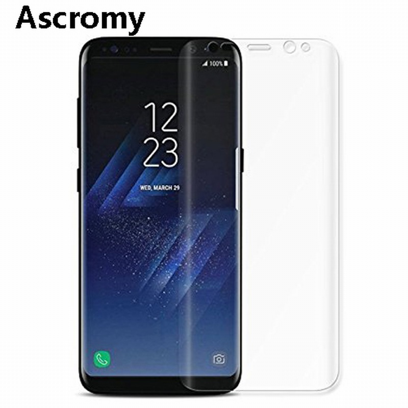 Ascromy For Samsung Galaxy Note 8 S8 Plus S7 edge S6 S8plus note8 S5 S4 Screen Protector TPU Silicone Full Cover Film Protection (1)