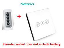 sesoo RF 433 Smart touch curtain switch  wireless remote control electric curtain motor control switch sesoo switch